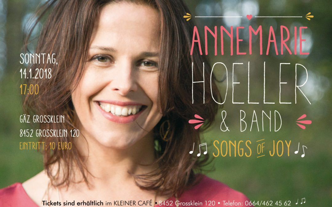 "Konzert ""Songs of Joy"" am 14. Jänner 2018 in Großklein"
